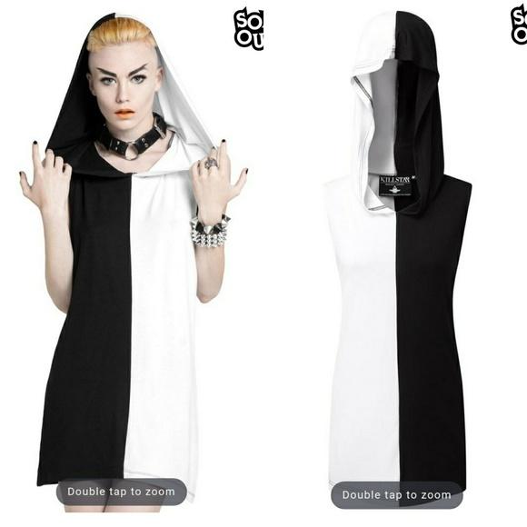 a4017d7f3d NWT Killstar Duality Hooded Dress M